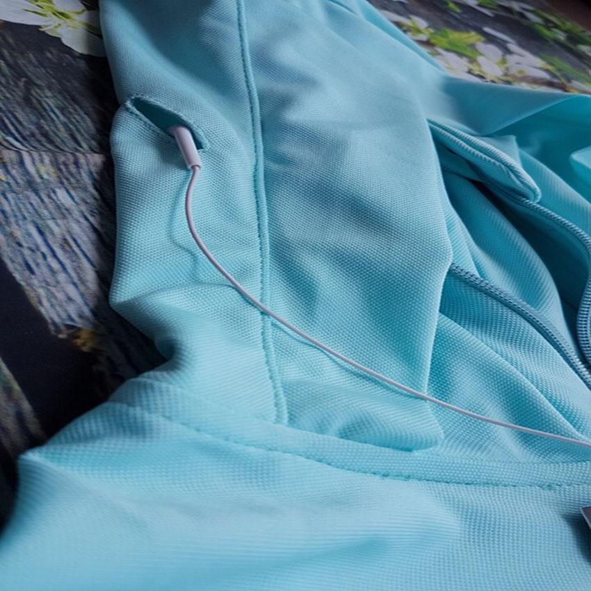 Áo chống nắng nữ liền thân, vải dày, dài tới gót chân, chống tia UV 8