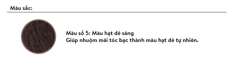 THUỐC NHUỘM TÓC 1 PHÚT HÀN QUỐC OMAR SHARIF COLOR CREAM NO 5 (MÀU HẠT DẺ) 8