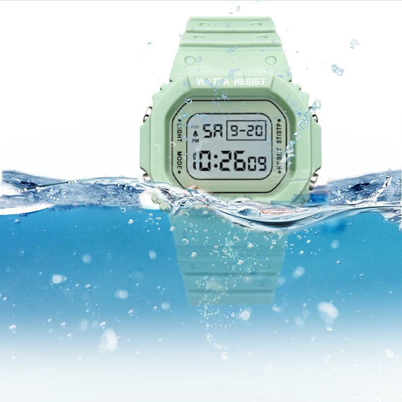 Đồng Hồ NỮ điện tử KASAWI Mặt Vuông K01222 Sports - xem giờ điện tử - báo thức - bấm giờ thể thao - xem lịch ngày tháng thứ - Dây Silicone Bền Chắc 15