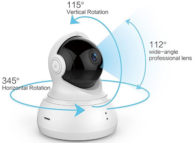 Combo Camera Quan sát Yi Dome HD 720P 360 Độ Quốc Tế + Thẻ Nhớ - Hàng Chính Hãng