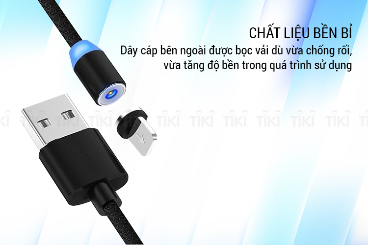 Dây Cáp Sạc Nam Châm Hit Từ 360 Độ Dành Cho Lightning (1m)