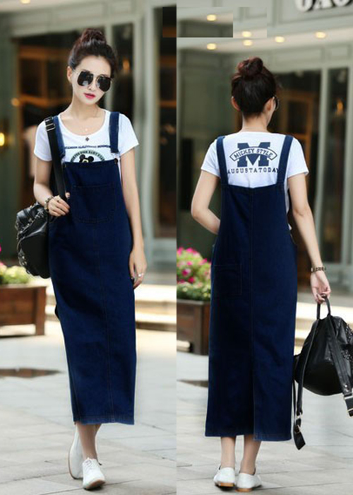Đầm Yếm Jean Thun Dài Phối Túi 3