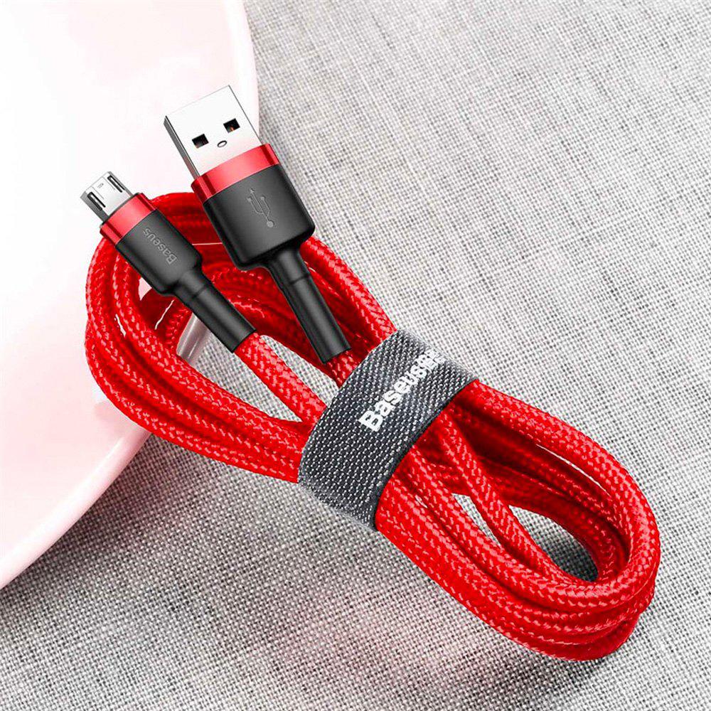 Cáp sạc nhanh Baseus Cafule Micro USB (2.4A, Quick charge 3.0) siêu bền -Hàng Chính Hãng
