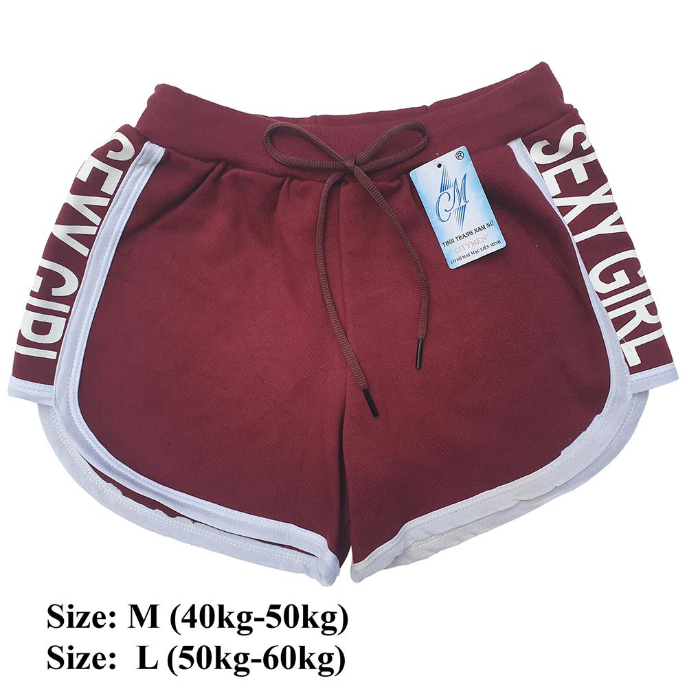 Combo 5 Quần đùi nữ SEXY GIRL dây rút, thể thao, tập gym, yoga, mặc nhà, giá rẻ, quần short nữ cao cấp ( Giao màu ngẫu nhiên ) 6