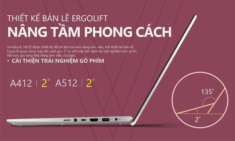 Laptop Asus Vivobook A512FA-EJ440T Core i5-8265U/ Win10 (15.6 FHD)