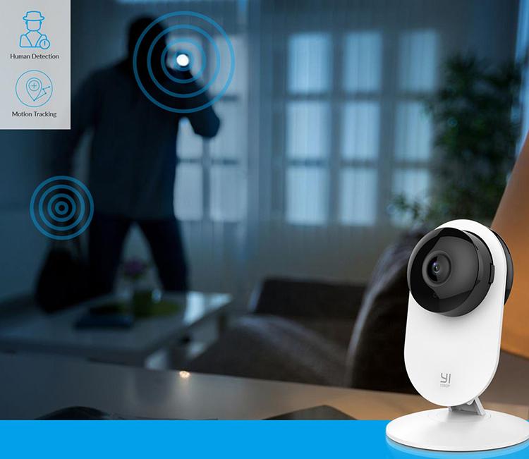 Combo Camera Quan sát Yi Home Full HD 1080P Quốc Tế + Thẻ Nhớ - Hàng Chính Hãng