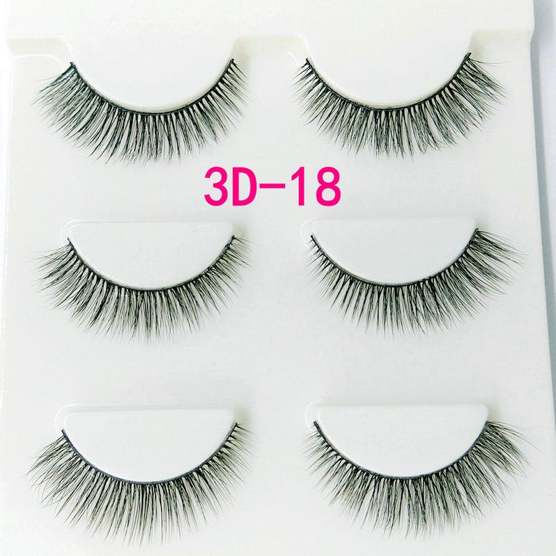 Lông mi giả lông chồn 3 Fashion Eyelashes 3 Faux-Cils 3D 1 bộ 3 cặp 70
