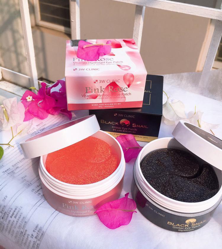 Mặt Nạ Đắp Mắt 3W Clinic Pink Rose Vitamin Hydrogel Eye Patch 90g (60 Miếng hộp hồng Hàn Quốc) - Ngăn ngừa và giảm thâm quầng Nhãn hiệu 3w cliinic | MuaDoTot.com