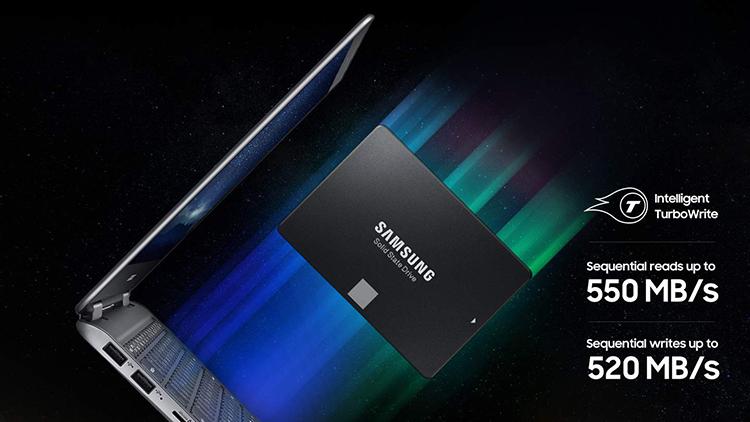 Ổ Cứng SSD Samsung 860 Evo MZ-76E1T0BW 1TB Sata III 2.5 inch - Hàng Nhập Khẩu
