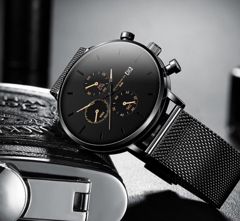 Đồng hồ nam business VINIEL thiết kế economicxi chất liệu dây thép phong cách thanh lịch VE118 Hàng Chính Hãng 2