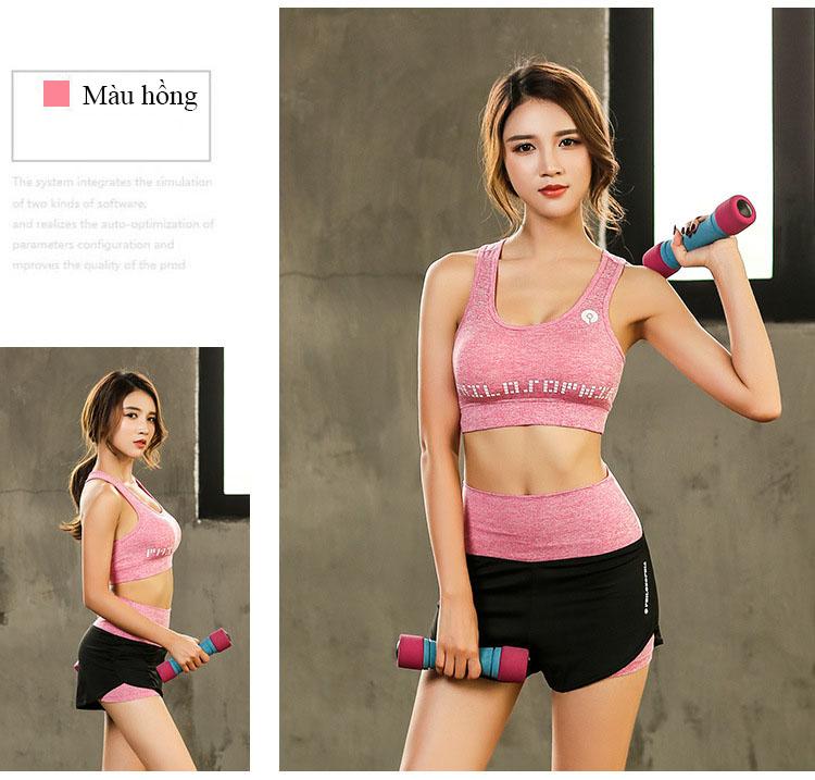 Set Bộ 3 đồ quần áo thun thể thao nữ áo ngoài zen năng động ( Đồ Tập Gym, Yoga, Aerobic ) mã 8808 11