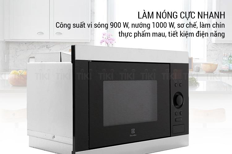Lò Vi Sóng Âm Tủ Electrolux EMS2540X (25L)
