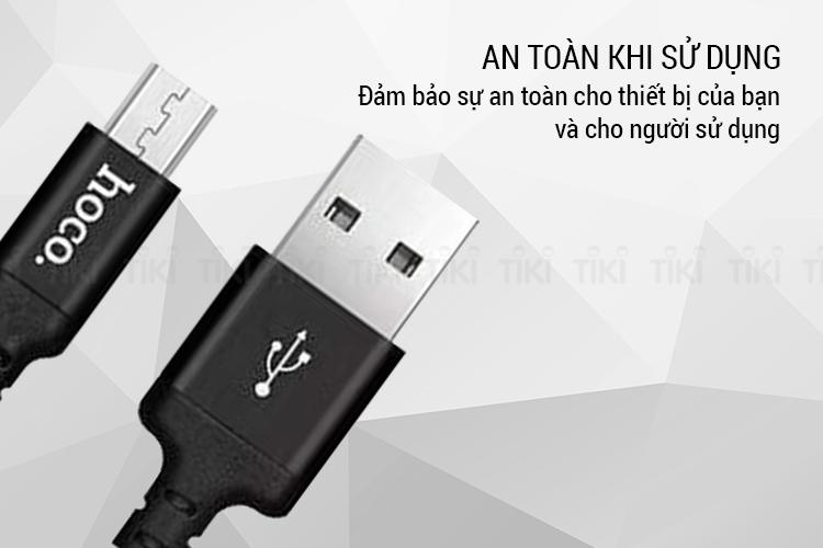 Cáp Sạc Hoco X14 Cổng Micro USB Dài 1m