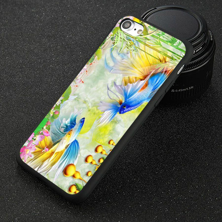 Ốp kính cường lực cho điện thoại iPhone 5/5s/se - bộ sưu tập cá MS BSTCA041