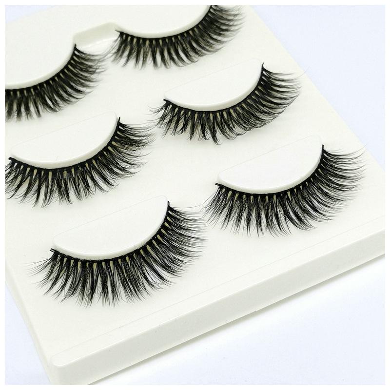 Lông mi giả lông chồn 3 Fashion Eyelashes 3 Faux-Cils 3D 1 bộ 3 cặp 16