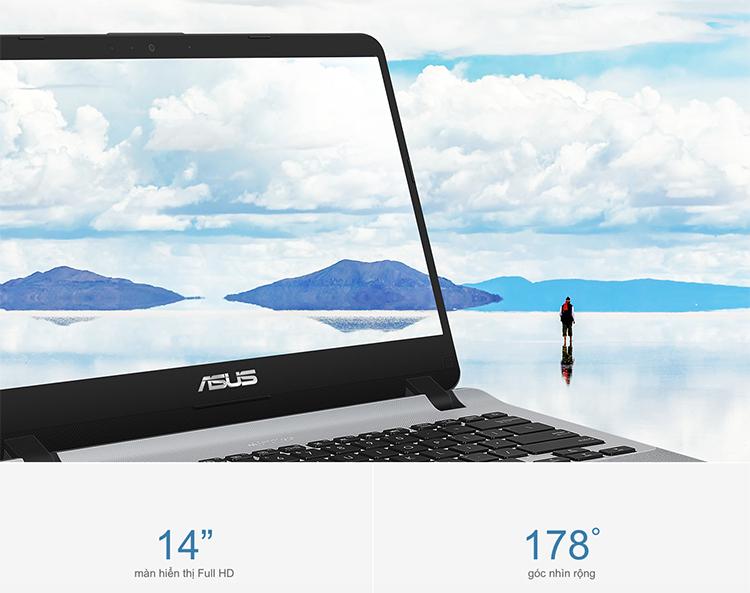 Laptop Asus VivoBook X407UA-BV344T Core i3-8130U/ Win10 (14 inch HD) - Hàng Chính Hãng