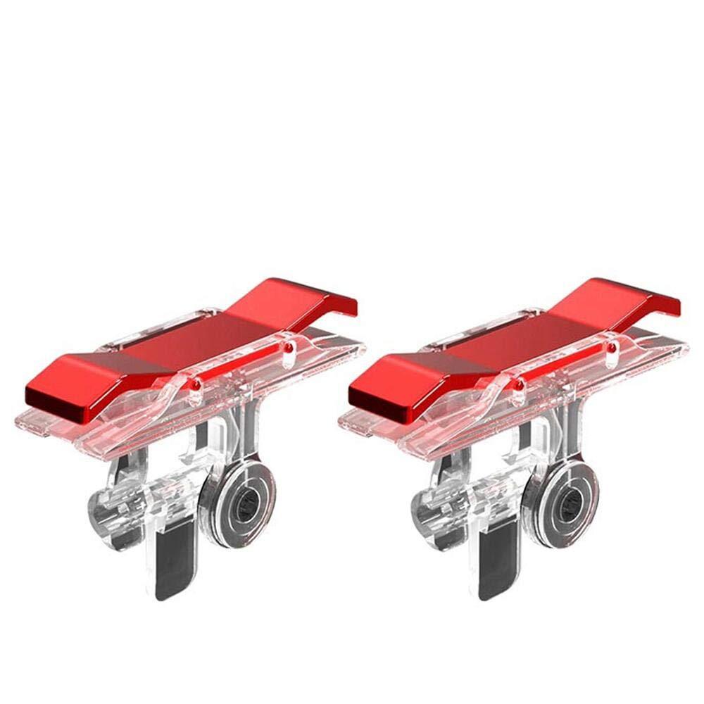 Bộ 2 Nút Chơi Game Pubg Mobile, Ros, Cf Dòng E9 Trong Suốt (Đỏ Hoặc Bạc) 20