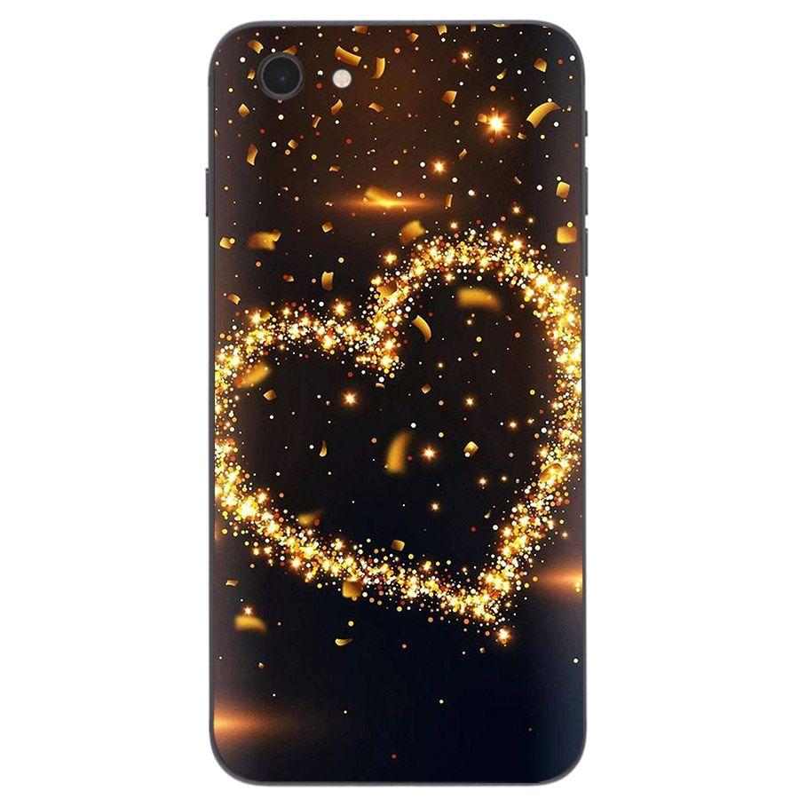 Ốp lưng cứng viền dẻo dành cho điện thoại iPhone 5/5s/se - trái tim tình yêu MS LOVE012