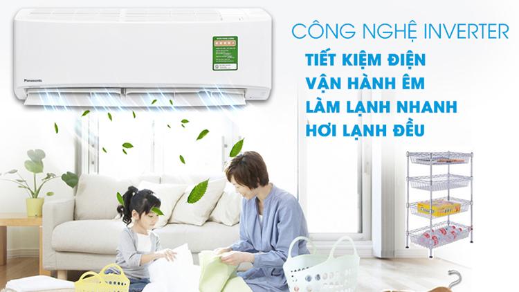 Máy Lạnh Inverter Panasonic Cu/Cs-Pu9vkh-8 (1.0hp) - Hàng Chính Hãng = 9.090.000đ