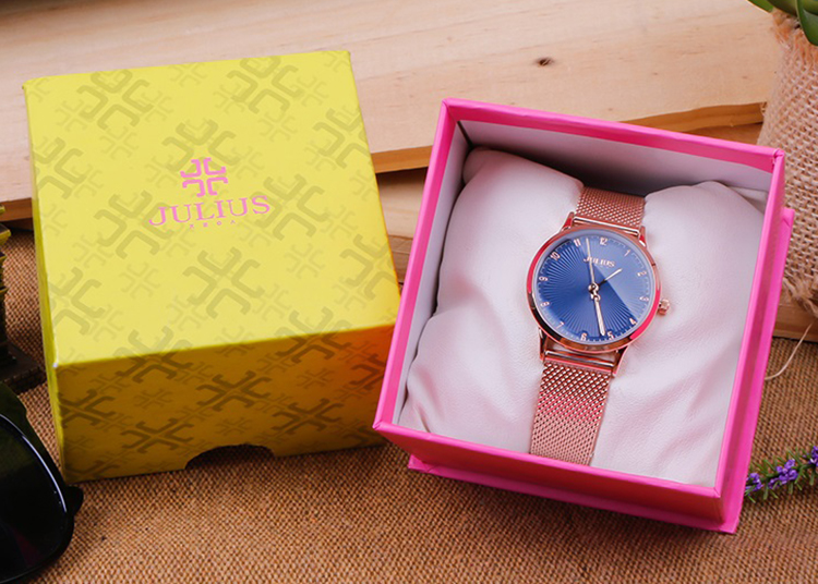 Đồng hồ nữ Julius JA-1075 Đồng Xanh