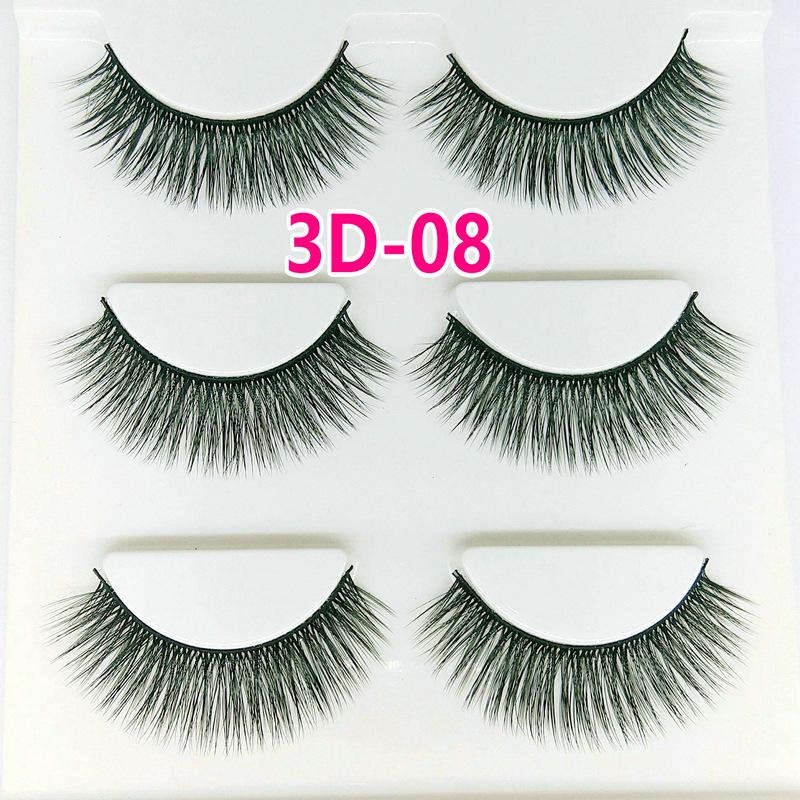Lông mi giả lông chồn 3 Fashion Eyelashes 3 Faux-Cils 3D 1 bộ 3 cặp 30