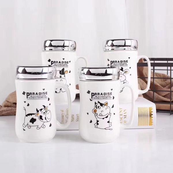 Ly Sứ Giữ Nhiệt Bò Sữa Nắp Tráng Gương (Mẫu Ngẫu Nhiên)
