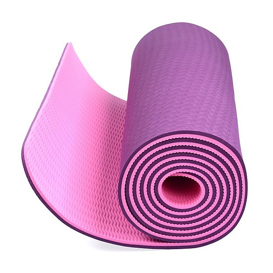 Thảm tập Yoga dày 8 mm giao màu ngẫu nhiên tặng kèm 2 bàn chải hàn quốc 2