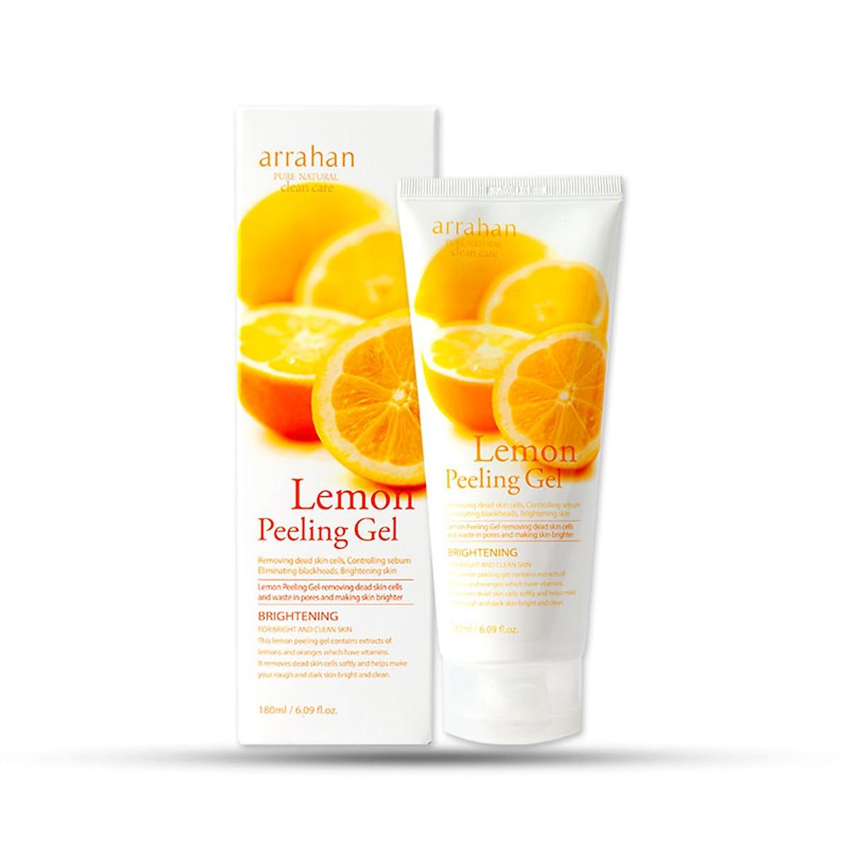 Kem Tẩy Tế Bào Chết Và Làm Mềm Da Arrahan Pure Natural Clean Care Lemon Peeling  Gel 180ml - Tẩy tế bào chết | MuaDoTot.com