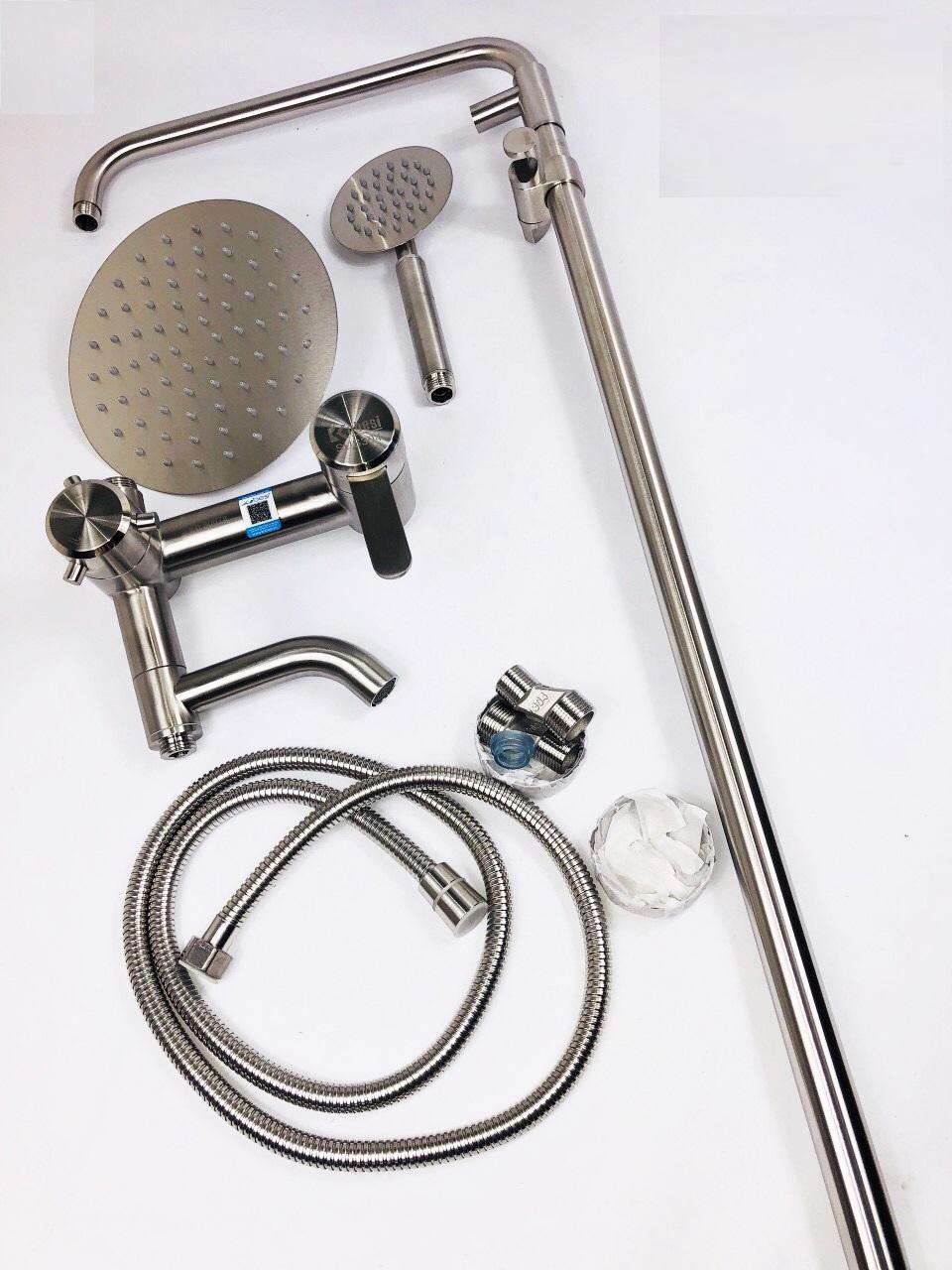 Bộ vòi sen cây phòng tắm Nóng lạnh đứng Inox SUS 304 cao cấp | Tiki.vn