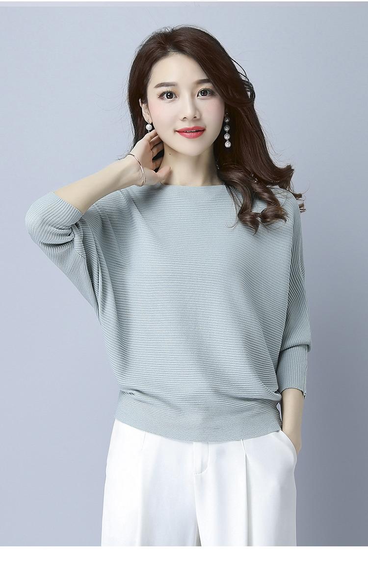 Áo len nữ cánh dơi thời trang Hàn Quốc 8