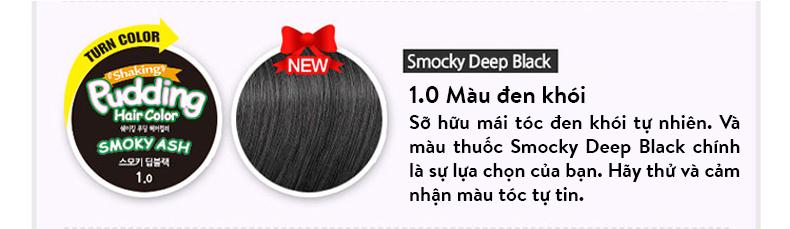 THUỐC NHUỘM TÓC HÀN QUỐC EZN SHAKING PUDDING HAIR COLOR 1.0 KHÔNG CHẤT ĐỘC HẠI 10