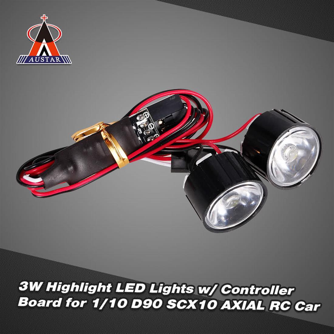 Bộ Đèn LED AUSTAR AX-006A Cho Xe Điều Khiển Từ Xa RC 1/10 Rock Crawler Traxxas Redcat AXIAL