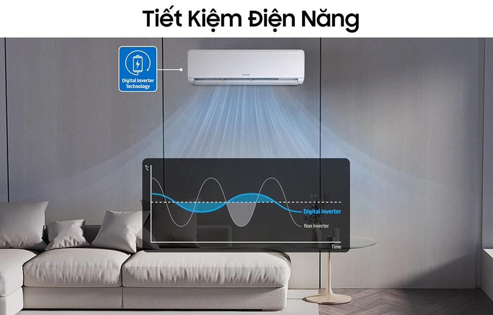 Máy lạnh Inverter Samsung AR18TYHQASINSV (2.0HP) - Hàng chính hãng - Chỉ giao tại HCM