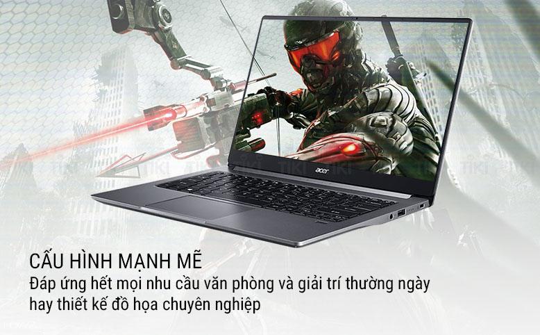 Laptop Acer Swift 3 SF314-57G-53T1 NX.HJESV.001 (Core i5-1035G1/ 8GB DDR4 2666MHz/ 512GB SSD M.2 PCIe/ MX250 2GB/ 14 FHD IPS/ Win10) - Hàng Chính Hãng