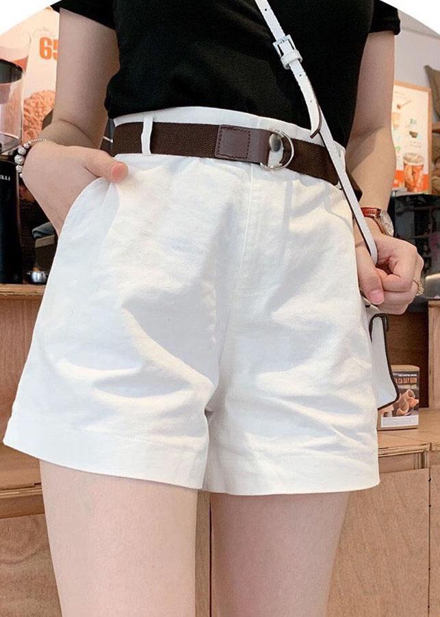 Quần short nữ kaki kèm dây nịt 1