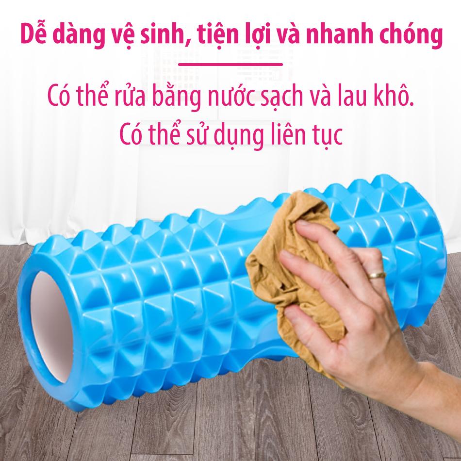 BG Con Lăn Massage Ống Lăn Dãn Cơ Foam Roller Tập Gym, Yoga, Thể Hình (hàng nhập khẩu) BLUE 3