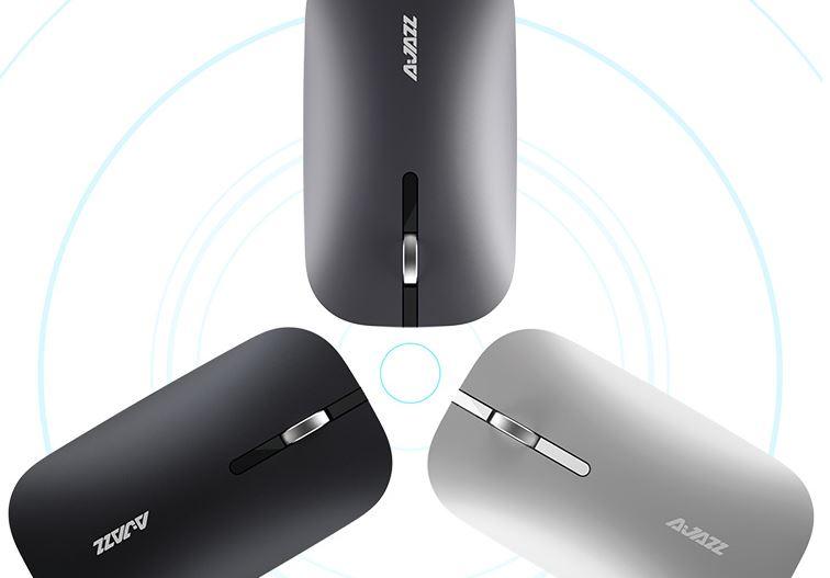 Chuột Bluetooth HeiJiu AJAZZ I25t Không Ồn Hai Chế Độ Kết Nối Hỗ Trợ Laptop, Máy Tính Bảng Macbook Apple - Đen
