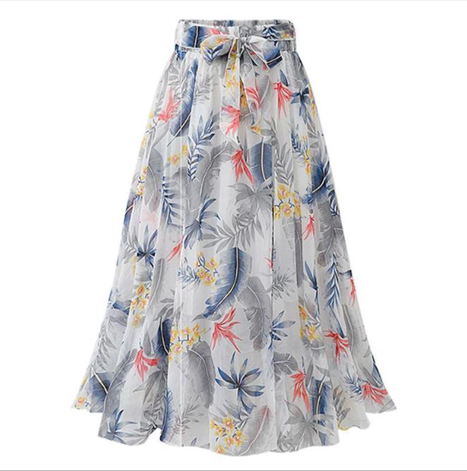 Chân váy voan mềm tung bay phong cách Vintage Châu Âu VAY66 free size 7