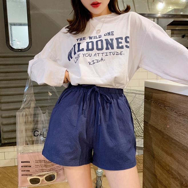 Quần đùi short nữ vải đũi thời trang mát mẻ mùa hè QĐ06 6