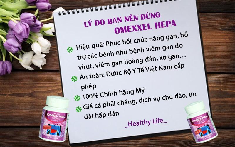 Viên Uống Bổ Gan, Tăng Cường Chức Năng Gan Omexxel Hepa (Lọ 30 Viên) - Chính Hãng Hoa Kỳ