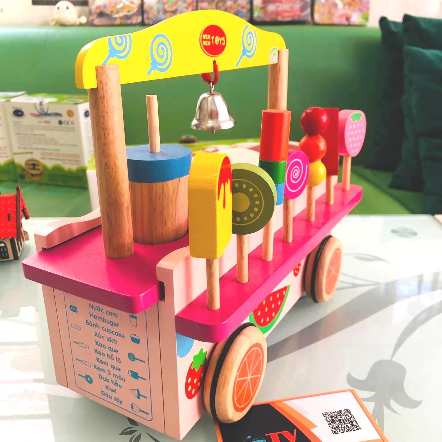 Trò chơi gian hàng cho bé Đồ chơi gỗ quầy bán hàng Việt Nam 3