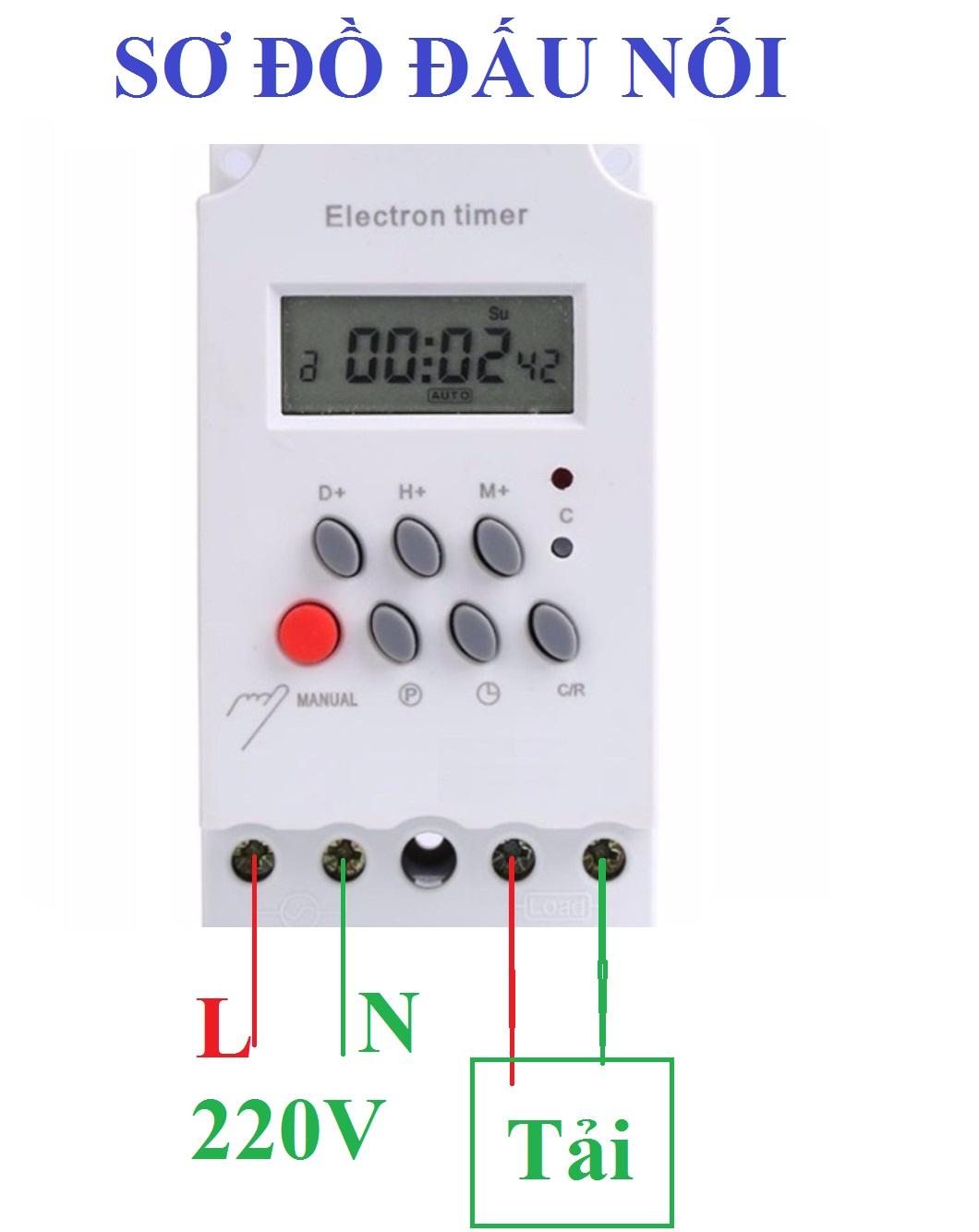 Công tắc hẹn giờ kg316t-ii 17 chương trình bật tắt tự động công suất lớn  25A/220V ổ cắm hẹn giờ timer hẹn giờ điện tử | Hương Bảo