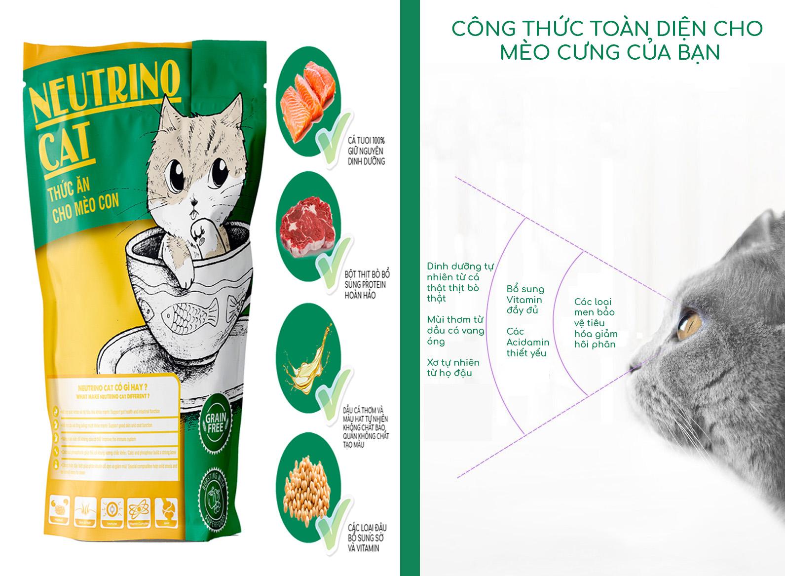 Thức ăn cho Mèo con Neutrino Cat 2