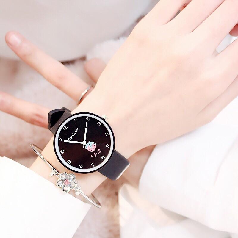 Đồng hồ nữ trái dâu Nhật Bản 4 màu thời trang 20