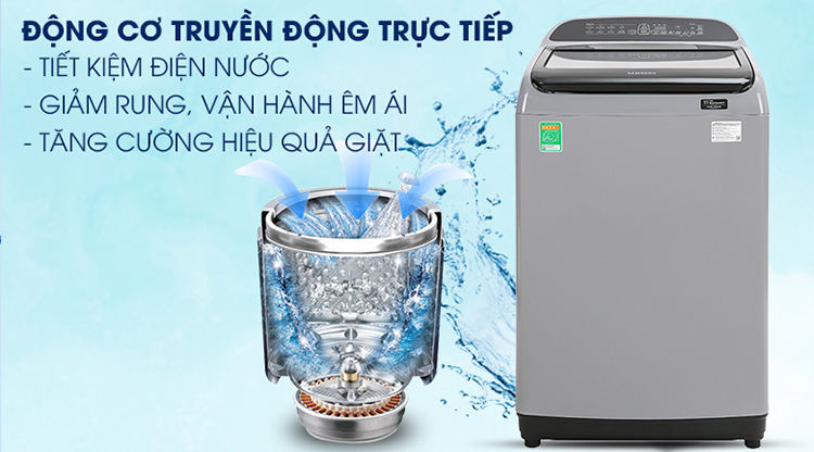 Máy Giặt Samsung Inverter 9 kg WA90T5260BY/SV - Chỉ giao HCM