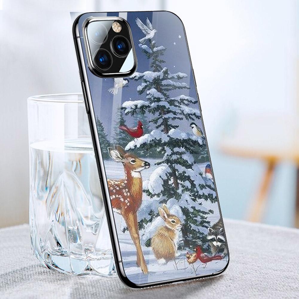 Ốp điện thoại kính cường lực cho máy iPhone 11 Pro Pro Pro - GIÁNG SINH ĐẾN RỒI MS GSDRMR010