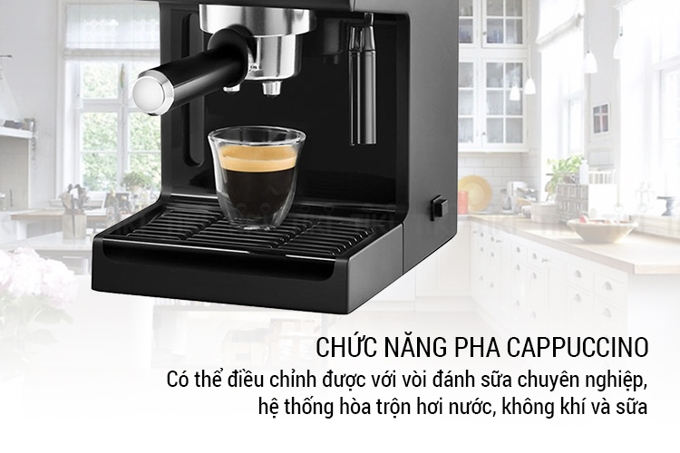 Máy Pha Cà Phê Espresso Delonghi ECP31.21 (1100W) - Đen - Hàng Chính Hãng