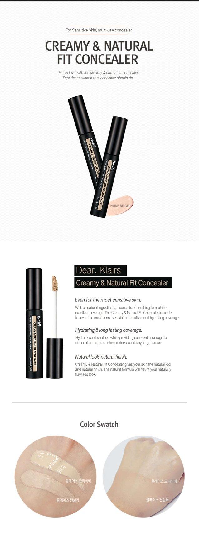 Kem Che Khuyết Điểm Klairs Creamy & Natural Fit Concealer 6ml 1