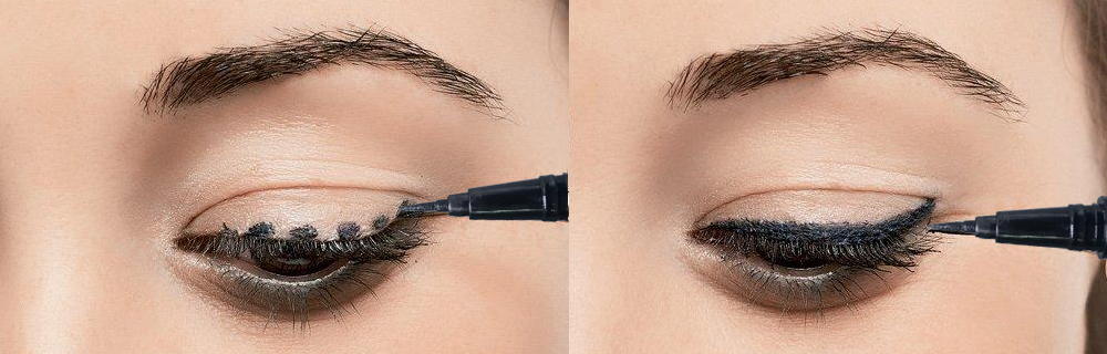 Bút lông kẻ mí mắt IONI - Waterproof Felt Eye Pen 2