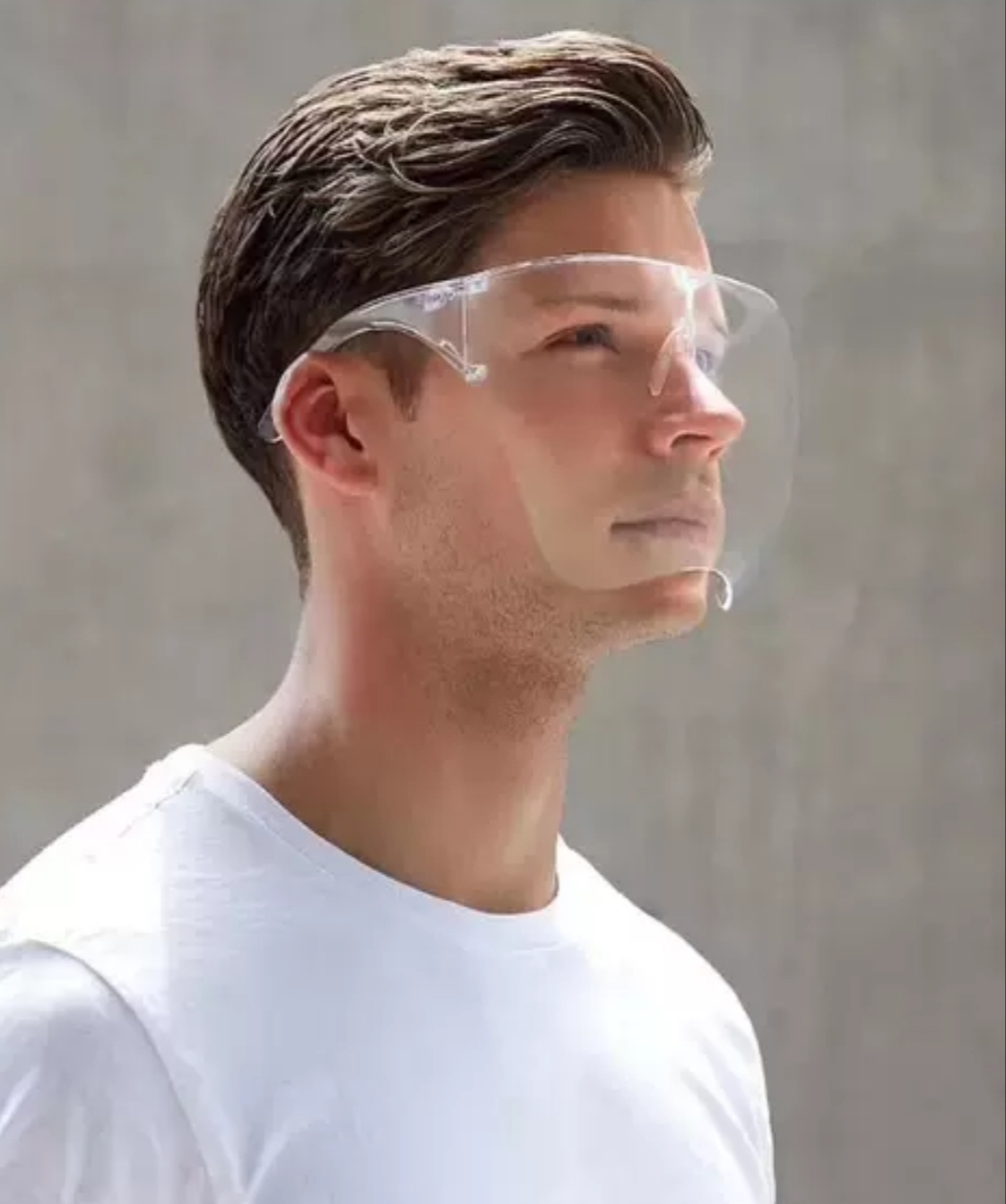 Kính che mặt chống giọt bắn , thời trang dễ sử dụng có gọng gương, an toàn có hộp 2